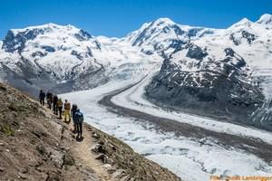 Gletscher Trekking zur neuen Monterosahütte