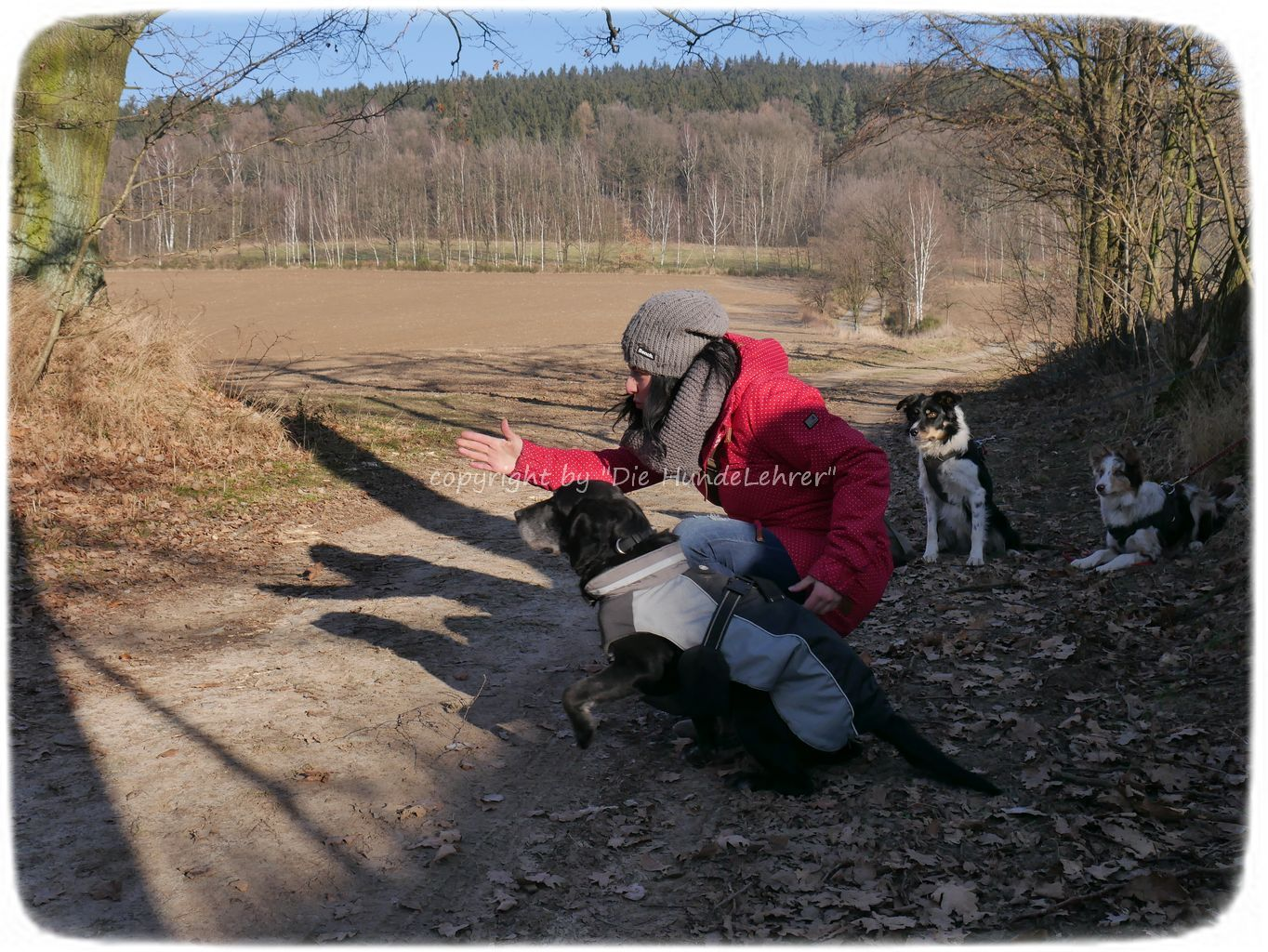 Maria Kurz bei Hundewanderung