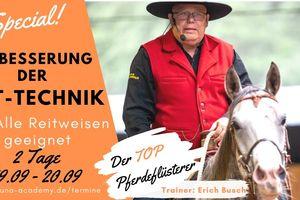 1 Tag Verbessern der Reittechnik mit  Erich Busch