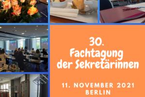 Fachtagung der Sekretärinnen in Berlin 2021
