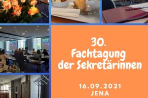Fachtagung der Sekretärinnen in Jena 2021 September