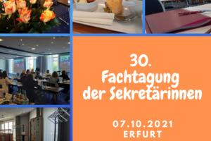Fachtagung der Sekretärinnen in Erfurt 2021 Oktober