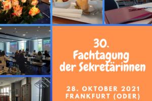 Fachtagung der Sekretärinnen in Frankfurt, Oder 2021