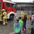 Wasser marsch-Besuch bei der Feuerwehr